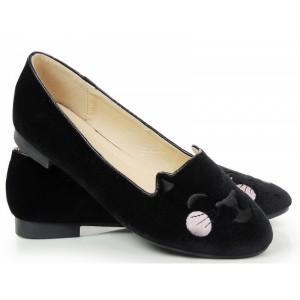 Trendové dámské balerínky černé barvy
