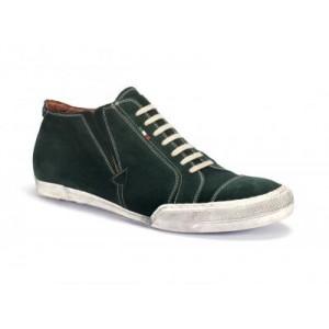 Pánská sportovní kožená obuv zelené barvy COMODO E SANO