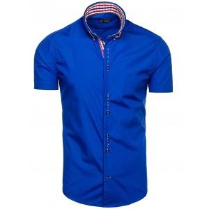 Exkluzivní pánská košile modré barvy na každou postavu