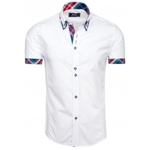 Elegantní bílé košile s krátkým rukávem pro pány