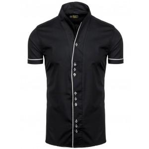 Moderní pánská košile černé barvy