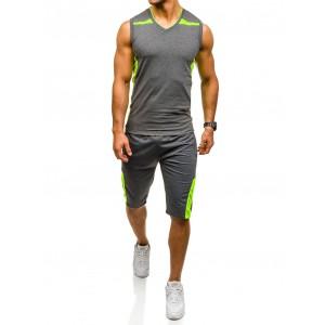 Sportovní tepláková souprava pro pány v tmavě šedé barvě