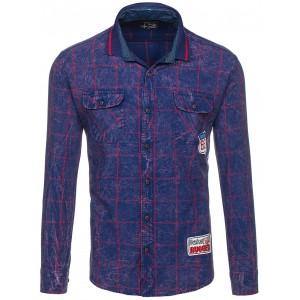 Stylové pánské košile tmavě modré barvy