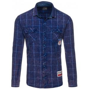 Sportovní tmavě modré pánské košile