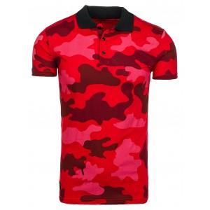 Červené pánské polo trička v army stylu