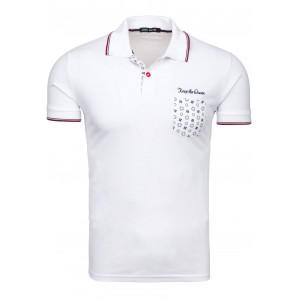 Bílé pánské polo trička bavlněné
