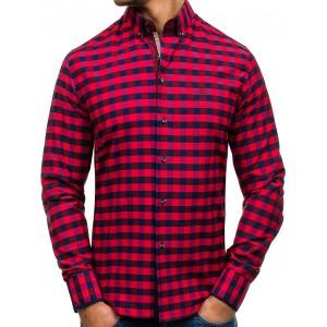Červené kárované košile pro pány