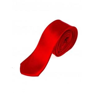 Úzké pánské kravaty v červené barvě