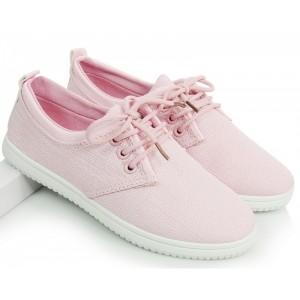 Růžové sportovní dámské botasky se šňůrkami