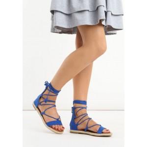 Pohodlné dámské gladiátorky v modré barvě