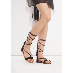 Stylové dámské gladiátorky černé barvy