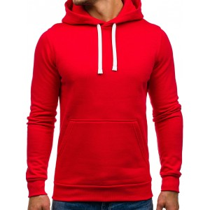 Pánská mikina červené barvy