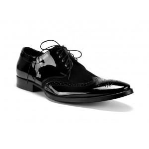 Pánské společenské kožené boty černé COMODO E SANO
