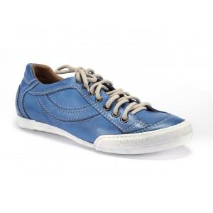 Modré pánské kožené boty na šněrování COMODO E SANO