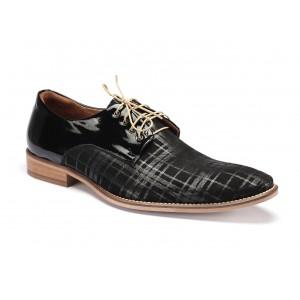 Kožené pánské boty černé barvy COMODO E SANO