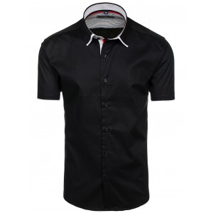 Elegantní pánské košile s krátkým rukávem černé