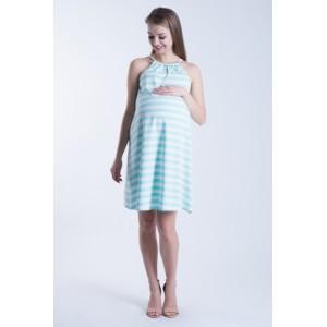 Letní těhotenské šaty modré barvy