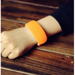 Moderní LED silikonové hodinky oranžové
