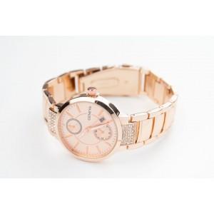 Růžové dámské elegantní hodinky