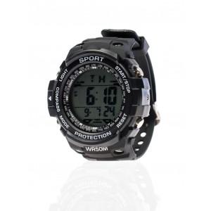 Pánské černé sportovní hodinky
