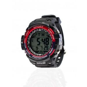 Červené pánské digitální hodinky sportovní