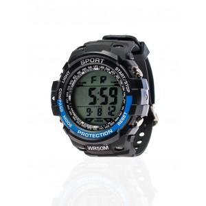 Pánské černé sportovní hodinky voděodolné
