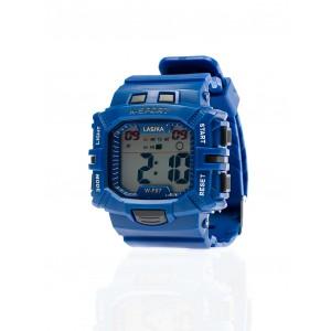 Tmavě modré sportovní pánské hodinky digitální