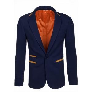 Elegantní pánské sako v modré barvě