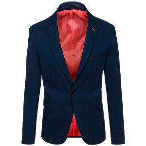 Elegantní modré pánské sako s lemováním