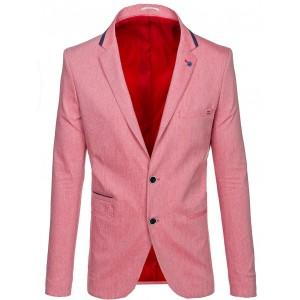 Stylové pánské sako červené barvy