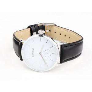 Černé kožené hodinky dámské