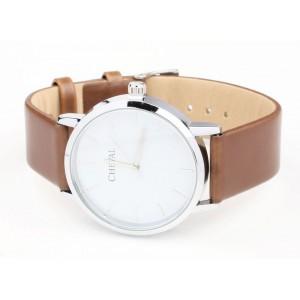 Módní dámské hodinky hnědé barvy