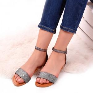 Černé sandály s třpytivým páskem