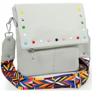 Kvalitní crossbody kabelka s ramínkem šedé barvy