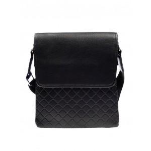 Prošívaná pánská kabelka černé barvy