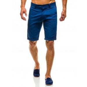 Moderní pánské šortky modré barvy