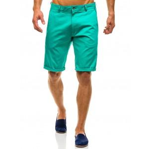 Zelené pánské kraťasy nad kolena