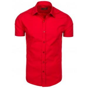 Červené pánské košile s krátkým rukávem