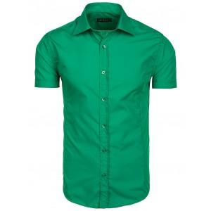 Zelená pánská košile s krátkým rukávem