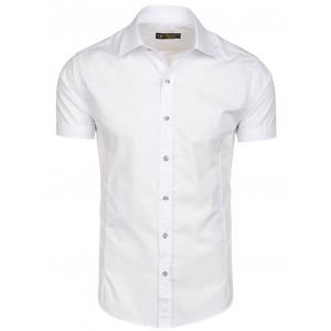 Elegantní pánské košile s krátkým rukávem bílé barvy