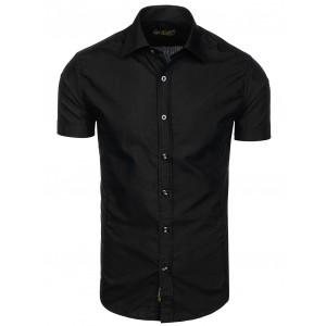 Pánské košile s krátkým rukávem černé barvy