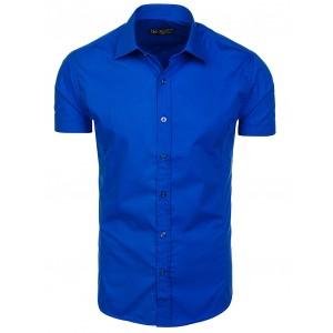 Pánské modré košile s krátkým rukávem na léto