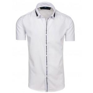 Pánská košile s krátkým rukávem bílé barvy