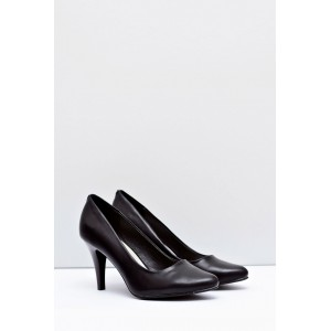 Elegantní dámské lodičky matné černé barvy