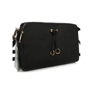 Listová kabelka do ruky v černé barvě