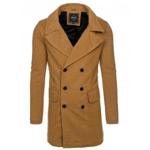 Béžový pánský kabát na zimu
