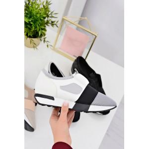 Bílá dámská sportovní obuv