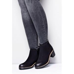 Černé dámské kotníkové boty