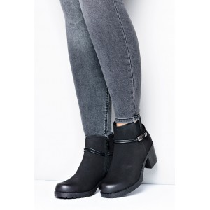 Dámské kotníkové boty černé barvy