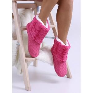 Teplé dámské pantofle v růžové barvě